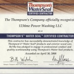 1234me.com Power Washing Thompsons Certificate