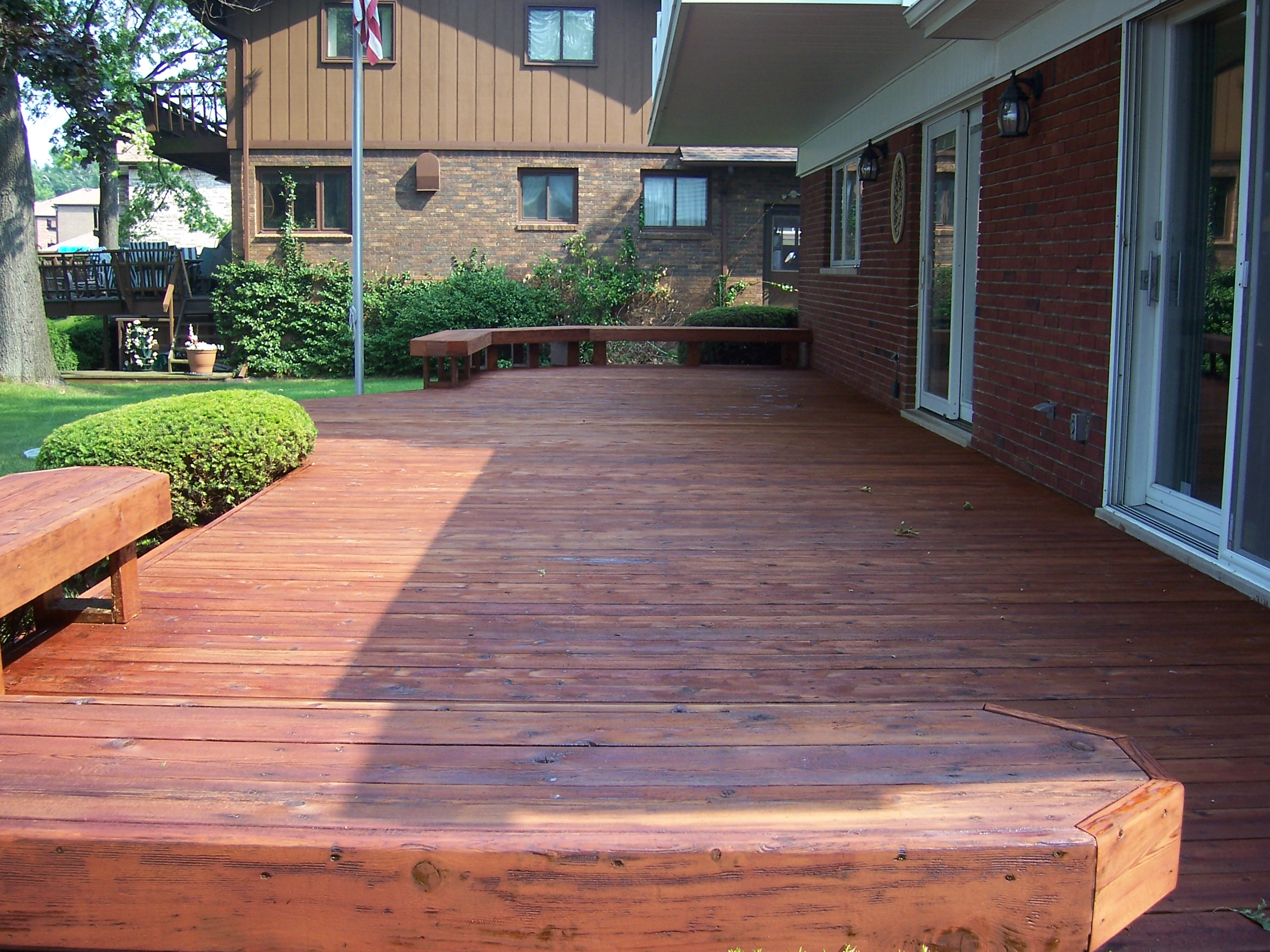 Rustic stained cedar deck 5 expert pressurepower washing rustic stained cedar deck 5 nvjuhfo Image collections