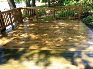 1234me Power Washing Deck Restoration in Progress 1